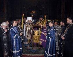 Чтение Великого покаянного канона преподобного Андрея Критского