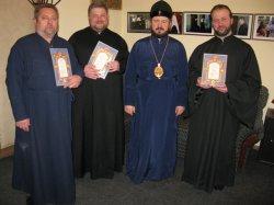 Протодиаконы Благовещенского кафедрального собора г. Харькова награждены Церковными грамотами
