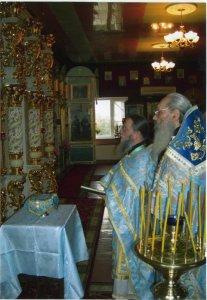 Освящение престола Покрова Божией Матери