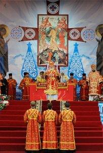 Божественная литургия на Площади Свободы