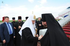 Завершился Первосвятительский визит Святейшего Патриарха Московского и всея Руси Кирилла вХарьковскую епархию