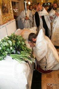 Божественная литургия  в девятый день по смерти