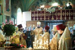 Архиепископ Онуфрий возглавил богослужение праздника Обрезания Господня и святителя Василия Великого