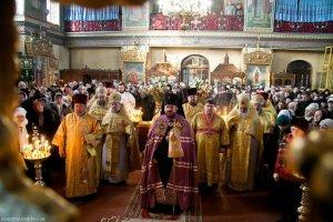 В неделю о блудном сыне архиепископ Онуфрий совершил богослужение в Трехсвятительском храме Харькова