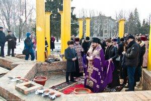 Архиепископ Онуфрий освятил строительство храма в честь святой царицы Тамары вхарьковском районе Пятихатки