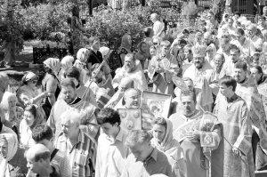 Архиерейская служба на столетие Казанского храма