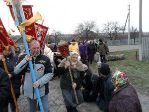 Крестный ход с иконой Андрея Первозванного в Староверовке