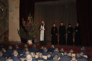 Духовный концерт учащихся ХДС для воспитанников колонии