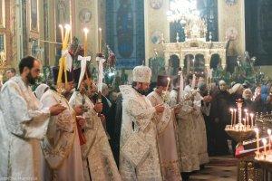 В праздник Рождества Христова архиепископ Онуфрий совершил богослужения вБлаговещенском кафедральном соборе