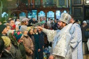 В навечерие Богоявления, архиепископ Онуфрий совершил Литургию в Благовещенском кафедральном соборе