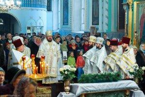 В неделю по Богоявлении архиепископ Онуфрий совершил Литургию в храме Озерянской иконы Божией Матери