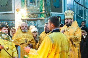 В праздник Обрезания Господня архиепископ Онуфрий совершил Литургию в Свято-Васильевском храме поселка Песочин