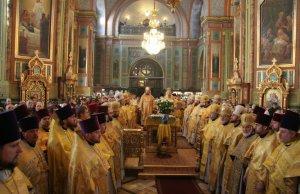 В день памяти святителя Мелетия вБлаговещенском кафедральном соборе прошло соборное богослужение