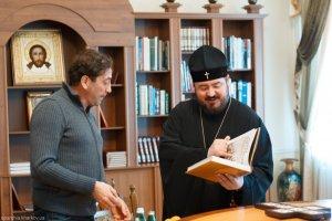 Состоялась встреча архиепископа Онуфрия с известным музыкантом и исполнителем Григорием Лепсверидзе