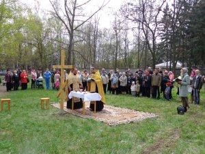 Освящение места под строительство храма Петра и Павла