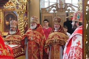 В день престольного праздника архиепископ Онуфрий совершил Литургию в храме Святого священномученика Александра (Петровского)