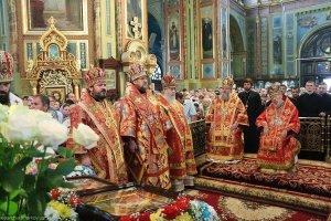 Божественная литургия вБлаговещенском соборе и Крестный ход