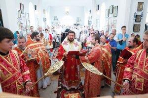 архиепископ Онуфрий освятил новый храм в селе Екатериновка Лозовского района