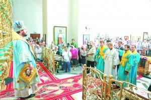 В праздник Казанской иконы Божией Матери архиепископОнуфрий совершил Литургию  в Свято-Владимирском храме г. Харькова