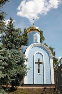 Архиепископ Онуфрий освятил часовню в честь святоговеликомученика Георгия Победоносца вуправленииГАИ Харьковской области