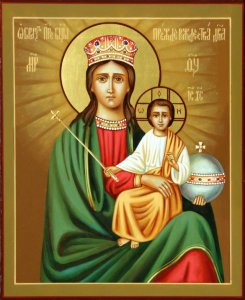 Икона Богоматери «Прежде Рождества и по Рождестве Дева»