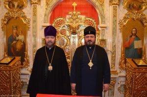 Состоялась встреча архиепископа Онуфрия с викарием Святейшего Патриарха Кирилла епископом Иринархом