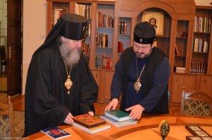 Состоялась встреча архиепископа Онуфрия с иерархом из Белоруссии архиепископом Димитрием