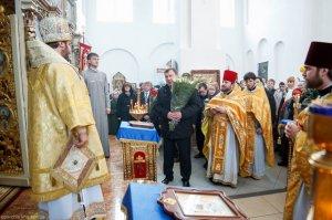 Литургия в Свято-Покровскомхраме г. Богодухова в Неделю 23-ю поПятидесятнице