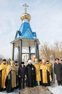Освящение часовни-ротонды в честь 1025-летия Крещения Руси на берегу реки Харьков
