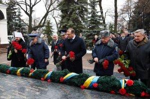 В честь памяти погибших сотрудников милиции