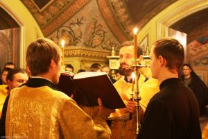 Праздничные богослужения в семинарском храме в день престольного торжества