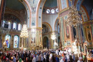 Литургия в Свято-Благовещенском соборе внеделю 2-ю по Пятидесятнице