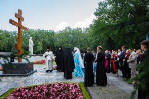Заупокойное богослужение  на Мемориале Славы