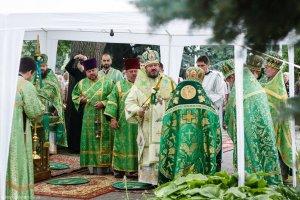 Литургия в день обретения мощей  преподобного Сергия Радонежского