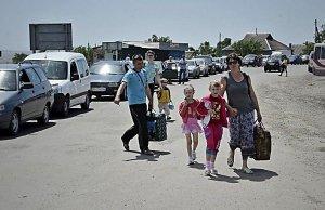Беженцы из зоны антитеррористической операции на юго-востоке Украины получают помощь в Харьковской епархии