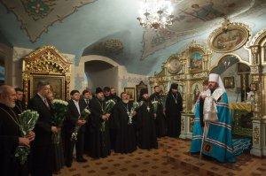 Правящий архипастырь совершил Литургию в Свято-Благовещенском соборе в годовщину смерти митрополита Никодима