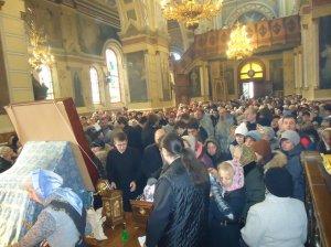 В Харькове пребывали  святыни с Афона