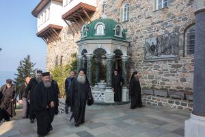 Митрополит Онуфрий встретил 70-летний юбилей на Святой Горе Афон
