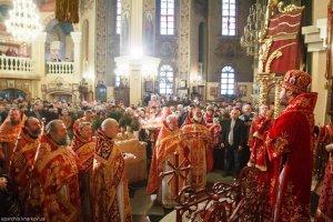 В Неделю 23-ю по Пятидесятнице митрополит Онуфрий совершил Литургию в храме священномученика Александра