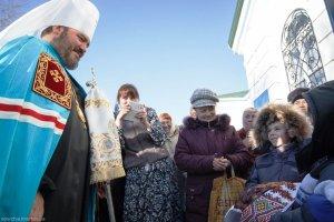 В день престольного праздника митрополит Онуфрий совершил Литургию вСвято-Архангело-Михайловском монастыре г.Лозовая