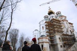 Освящен купол строящегося храма святых Жен-Мироносиц города Харькова