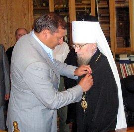 Митрополит Никодим нагороджений грамотою Харківської міської ради