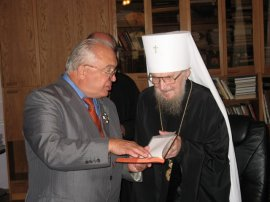 Митрополит Никодим принял ректора МГУ