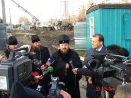В Харькове совершена закладка камня  под строительство  храма в честь  священномученика Валентина