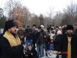 В Харькове освящено место под строительство часовни у памятника погибшим воинам афганцам