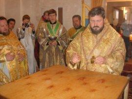 Освящен храм в честь апостола Андрея Первозванного в г. Лозовая Харьковской области