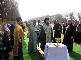 Освящены поклонные Кресты при въезде в пос. Циркуны Харьковского р-на