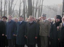 Церемония памяти расстрелянных польских офицеров